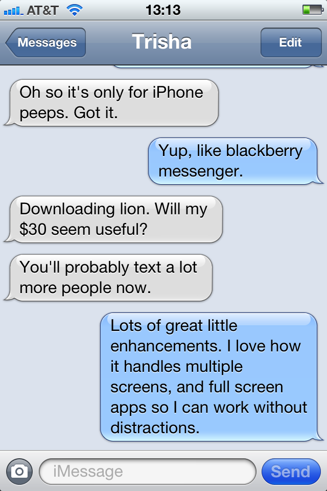 Turn On IMessage In IOS5